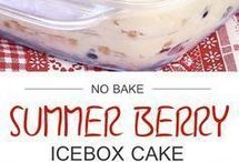 No baked berries cake