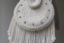 Crochet circle bags