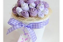 Flores de patchwork para jarron