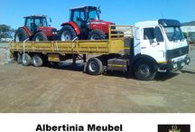 Albertinia Meubel Vervoer  / Albertinia Meubel Vervoer is a company which prides itself on delivering a service of transporting not only household goods but also industrial equipment to any destination in South Africa. A family owned business that plough back into the community.
