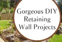 DIY retaining wall projects