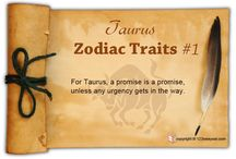 Taurus Zodiac Traits / Find out about Taurus characteristics and Taurus personality traits.