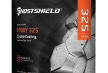 Epoxy 325 - Ghostshield / A revolutionary, water based epoxy coating designed to repel chemicals and abrasions available in a clear or colored semi gloss finish