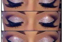 Augen make up korall