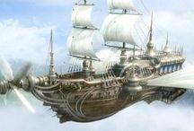 steampunk boats