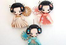 kokeshi/japanese dolls