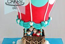 Hot air balloon cakes / Gdads bday