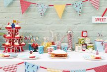 Talking Tables: Village Fete / Bring the village fete to your back garden with these fun and quirky party products. Decorate with bunting, Set up the fete games and dish up the treats as family and friends arrive. The perfect theme to your spring-time garden party or summer BBQ.