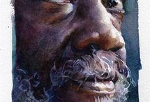 watercolor face