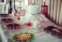 decoración navidad de boda