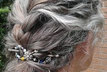 Long grey hair ideas