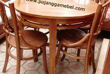 kursi makan antik bulat