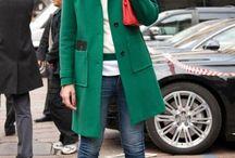 coloured coat