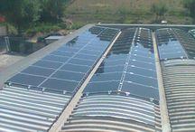 Impianto Fotovoltaico Terranuova Bracciolini / messa in sicurezza di copertura in fibrocemento ecologico e posa di impianto fotovoltaico per l'autosufficienza energetica dell'azienda sottostante. Utilizzo di pannelli in CIGS