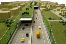 Realizzazione del Tunnel GRA con riqualificazione del tessuto urbano Selva Candida Roma, scala 1:500