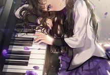 Ragazze manga musica