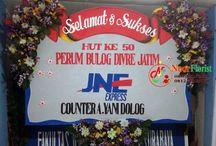Bunga Papan HUT Ke 50 Bulog surabaya Jawa timur