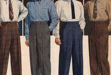 Мужская мода прошлых лет
