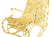 Плетеное кресло-качалка / Плетеные кресла-качалки для дачи или загородного дома