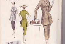 Vintage Fashion Patterns / Beautiful Vintage Patterns for sale
