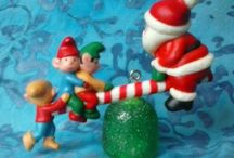 Vintage Christmas Ornaments 1950s 1960s 1970s 1980s / Vintage Christmas Elves Rubber Plastic Deer Santas Elves Fairies Pixies Shiny Brite Ornaments and Christmas Kitsch Home Decor! / by 44collectingdust44