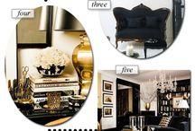 black and gold interior