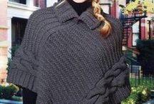 tricô poncho