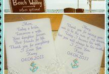 Beach Wedding Embroidered Wedding Handkerchiefs
