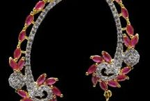 American diamond jewellery / American diamond Imitation jewellery Artificial jewellery / by Cilory.com