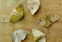 Textile butterflies