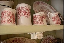 Vintage Pitchers, Plates & Platters & Other Glassware / There's nothing sweeter than a collection of any or all of these.