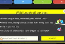 Professioanl Sticky and Inline social share button combo for blogger blog