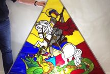 Stained Glass / Stained Glass Projects completed at Blue Bird Glass Studio