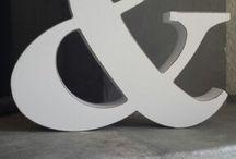 Litery znaki napisy dekoracyjne