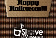 October #SaMSpecial / For the cost of double-sided printing you can sleeve each of your customers with some tricks and treats to get them thought the Halloween season! Our October #SaMSpecial features a sequence of delightfully spooky images!  For more information or to order your custom coffee sleeves call 1 (877) SLEEVE6