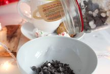 Hot Cocoa /  Mason Jar Cookie Company has two brand new Hot Cocoa Mixes to start the holiday season. Both have a rich cocoa base and are accented with mini marshmallows, chocolate chips, and the Hot Mint Cocoa! has candy cane pieces.