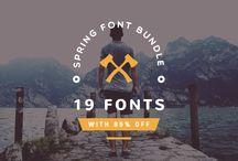 Spring Font Bundles