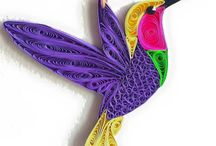 Quilled humming bird