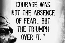 Quotes regarding FEAR