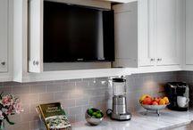 Hidden tv in kitchen