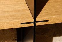 Ferro / Arredi in legno massello e ferro laccato bianco, nero o corten.