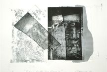 Etching - Point Roadknight - / The etchings, chine-colle and collage are about the forces of nature interacting with this landform.