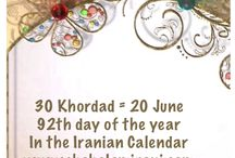 30 Khordad = 20 June / 92th day of the year In the Iranian Calendar www.chehelamirani.com