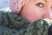 Knits / knitted scarves, hats, and more