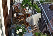Deko für kleine Balkone