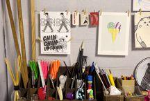Art studio spaces
