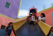 Jardin d'enfants / Nous créons des jardins d'enfants au sein des garderies pour encourager la pré-scolarisation des enfants et équiper les garderies du sud marocain.