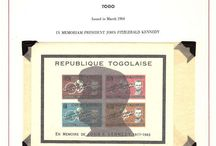 TOGO Stamps JFK / John F. Kennedy stamps collection of Togo.
