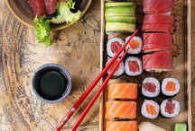 Sushi Moodboard - Light Brown, wood