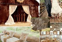 Wedding theme: country rustic / Burlap and lace.  Weathered wood.  Organic flower designs.  Eclectic gatherings. Mason jars, lanterns, and hand-painted signs. Bright, bold colors.